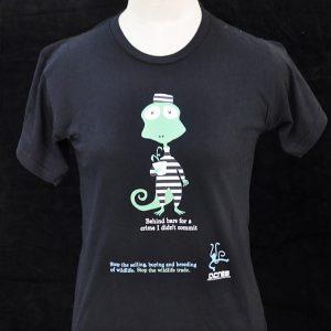 crime iguana black tee